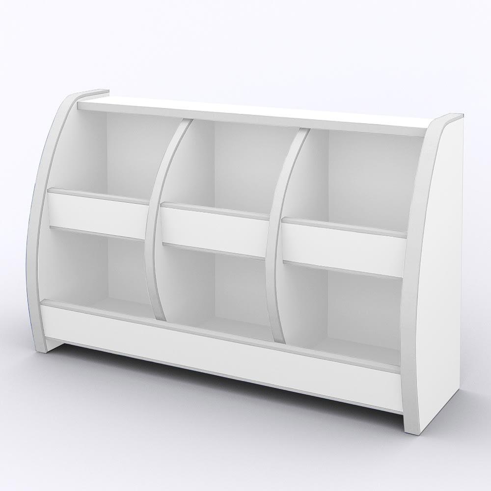 クッション付安心おもちゃ箱幅95 ホワイト
