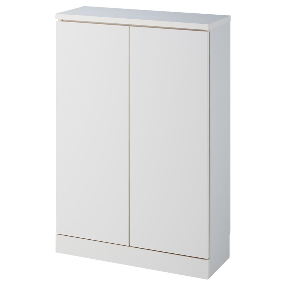組合せ・高さ奥行のサイズオーダー薄型収納庫 幅60cm (イ)ホワイトお届けはこちらの商品になります(オーダーサイズにより形状が異なります。)