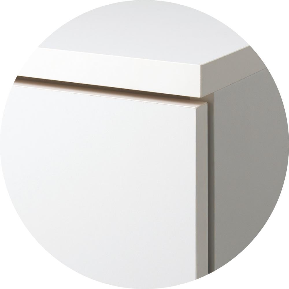 組合せ・高さ奥行のサイズオーダー薄型収納庫 幅60cm (イ)ホワイト 清潔感があり、合わせるインテリアの雰囲気を選ばない定番のカラー。