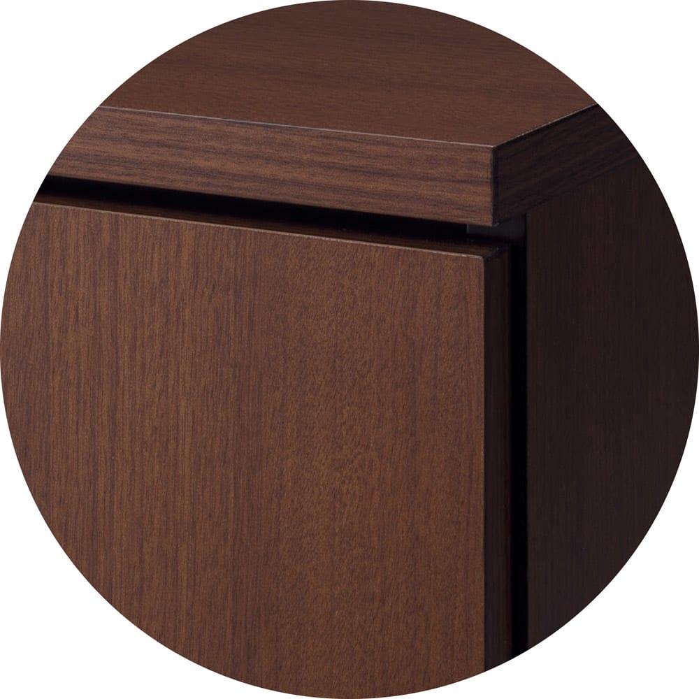 組合せ・高さ奥行のサイズオーダー薄型収納庫 引き出し 幅50cm (ア)ダークブラウン シックな印象で大人な雰囲気漂うカラー。重厚感のあるインテリアがお好みの方にお勧め。