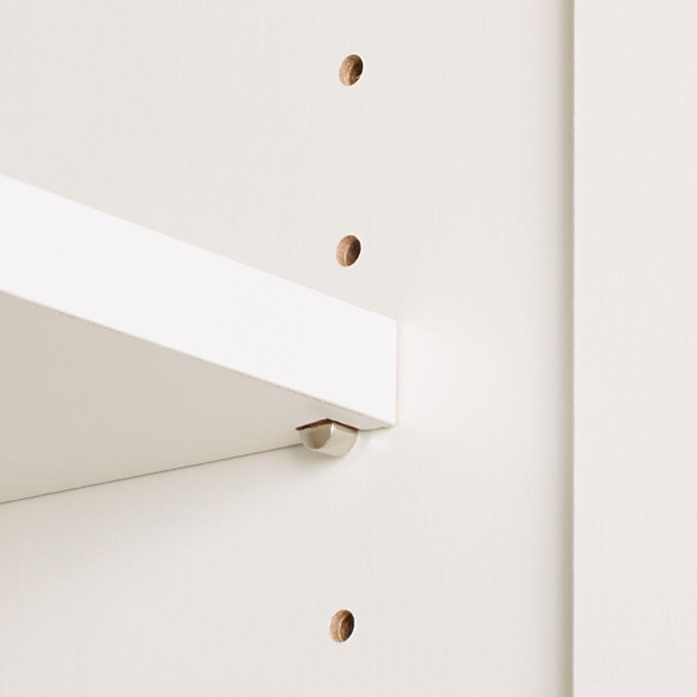 Gillis/ギリス キッチンストッカー 幅25cm奥行42cm高さ180cm 棚板は3cmピッチ19段階の可動式。収納物に合わせて高さ調節できます。