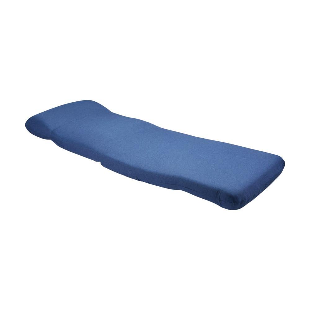 腰に優しいゆらゆら寝椅子 ワイド 幅67cm (ウ)ネイビー