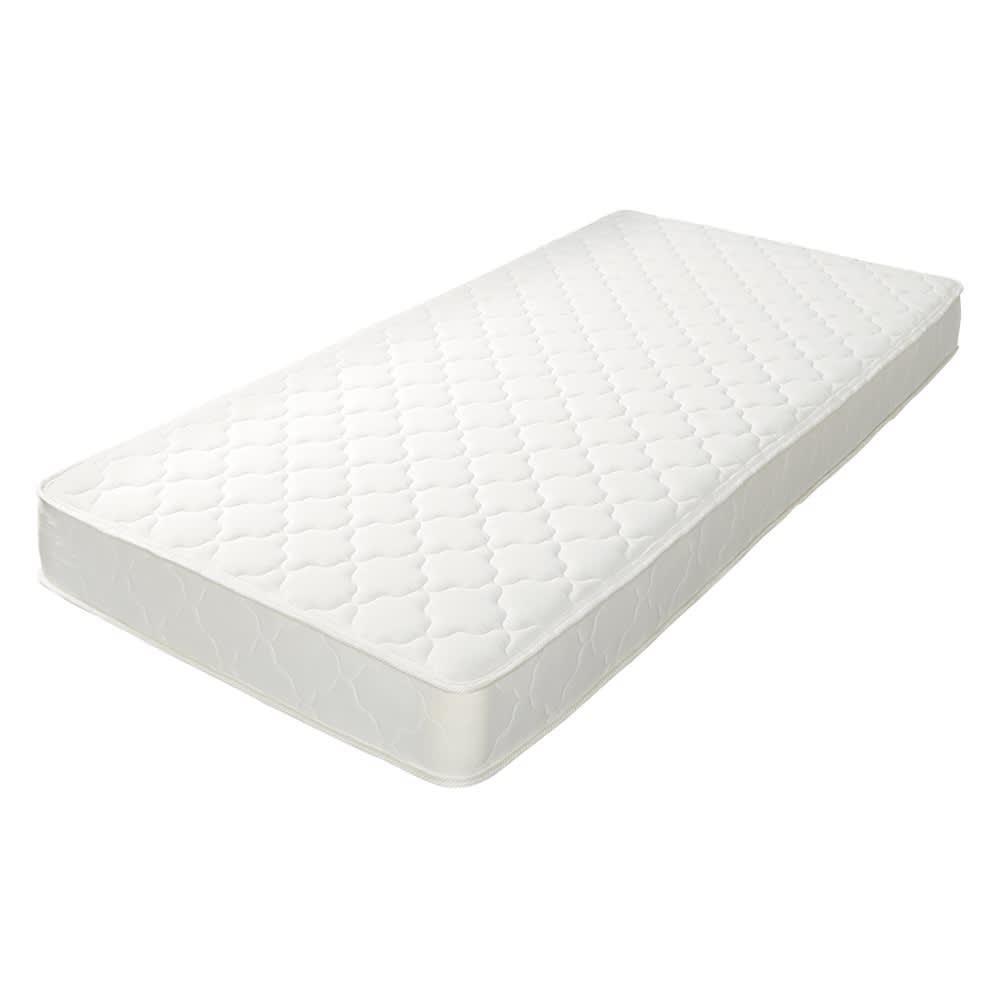 角あたりのない細すのこベッド (両面使えるポケットコイルマットレス付き) 高密度ポケットコイルマットレス ※写真はシングルサイズ(97×195cm)です。