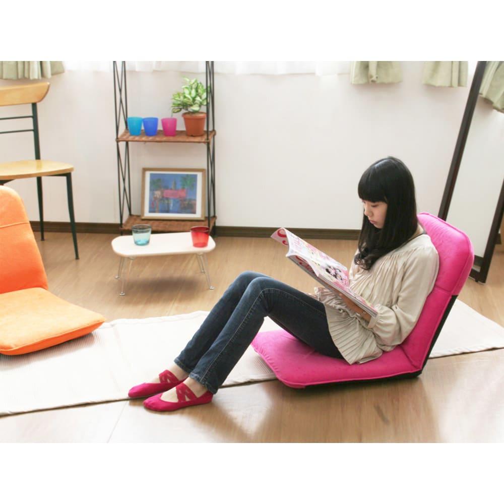 コンパクト収納チェア【座椅子】 使用イメージ