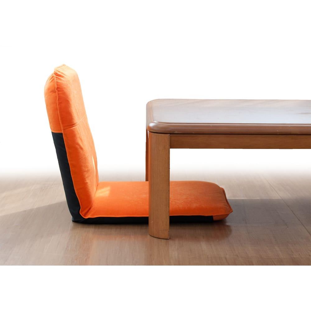 コンパクト収納チェア【座椅子】 ローテーブルにぴったり。座面高は6センチ。