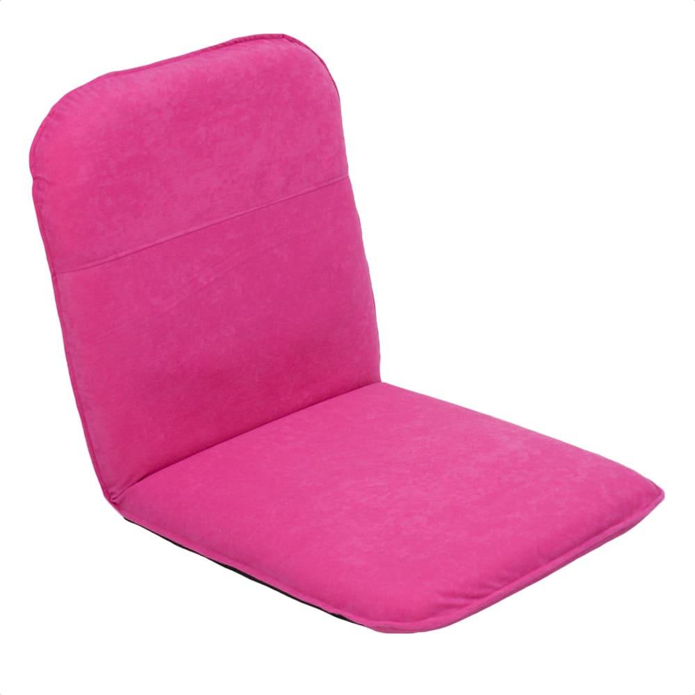 コンパクト収納チェア【座椅子】 (オ)ピンク