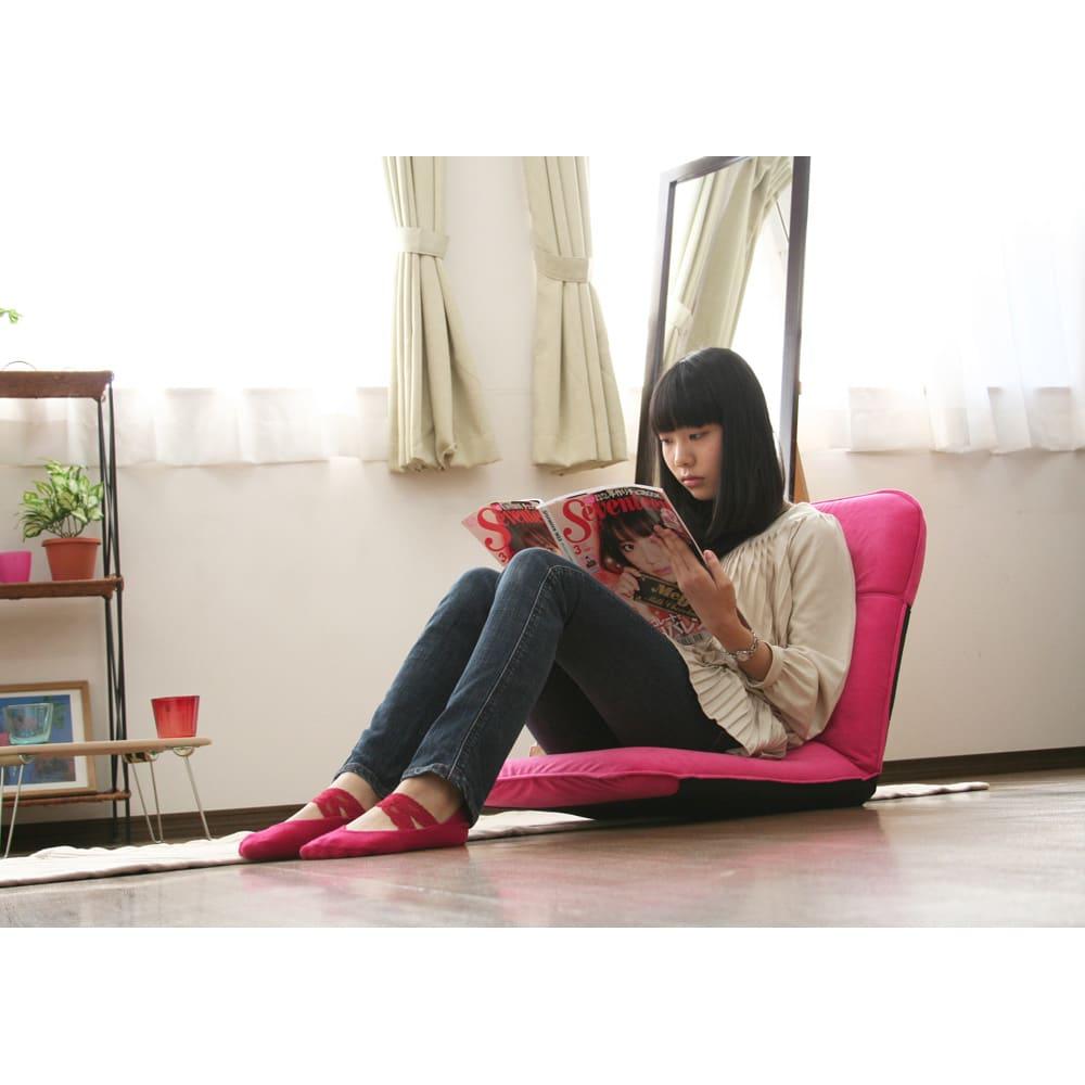 コンパクト収納チェア【座椅子】 読書などにも