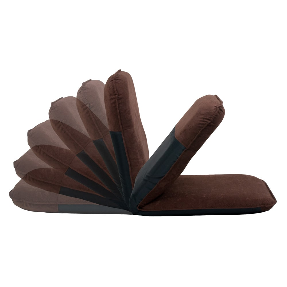 コンパクト収納チェア【座椅子】 背もたれは5段階にリクライニング