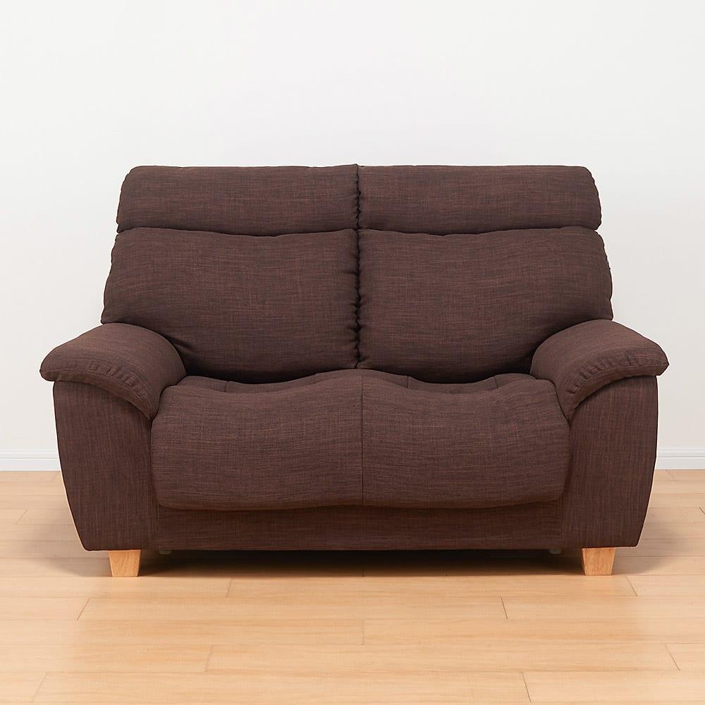 座ったまま眠ってしまうソファ ・幅147cm (イ)ダークブラウン
