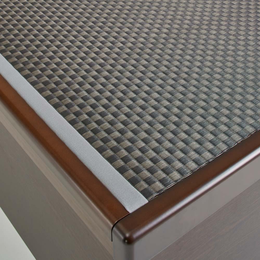 「美草」畳ガス圧収納ベッド 収納棚付きヘッドボードタイプ シングル 清潔感が続くセキスイ畳『美草』を使用しています