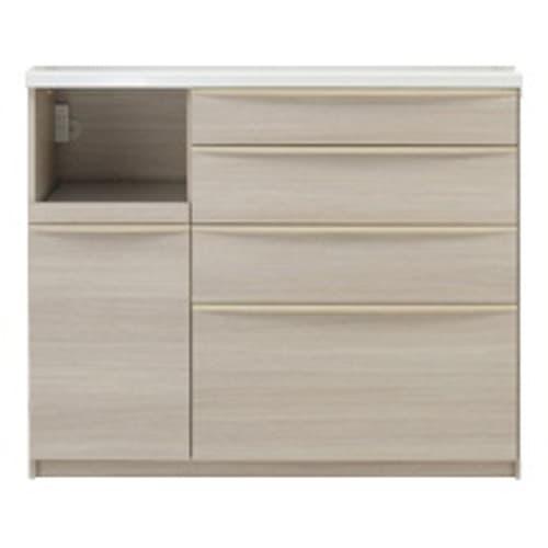 お手入れ簡単ナチュラル高機能シリーズ カウンター 幅120cm (ア)ホワイトオーク ※写真は家電収納位置「左」です。