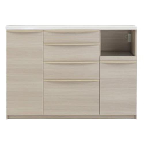 お手入れ簡単ナチュラル高機能シリーズ カウンター 幅140cm (ア)ホワイトオーク ※写真は家電収納位置「右」です。