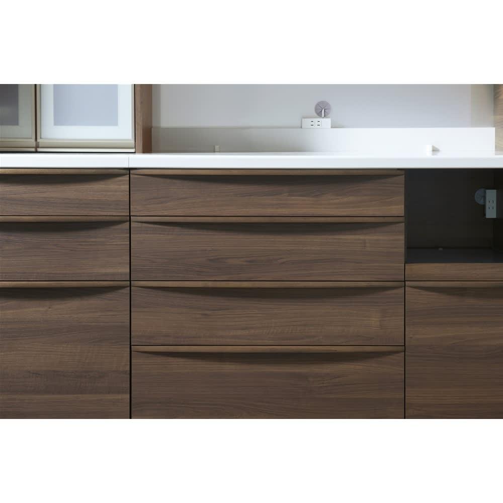 お手入れ簡単ナチュラル高機能シリーズ カウンター 幅140cm 本物の木目柄をリアルに表現した表面材が魅力。