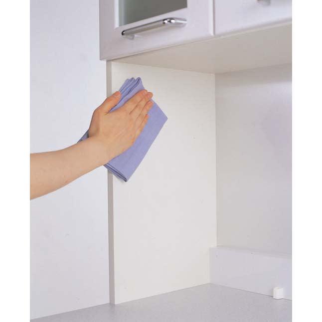ラグジュアリー壁面サイドキャビネット40左開き<パモウナ VD-400L> ◎スーパークリーンボディ さっと拭き取れ、お手入れ簡単。ボディーと棚板は、キズ・汚れに強いEBコート採用。