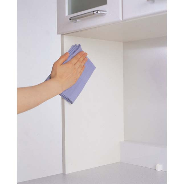 ラグジュアリー壁面サイドキャビネット40右開き<パモウナ VD-400R> ◎スーパークリーンボディ さっと拭き取れ、お手入れ簡単。ボディーと棚板は、キズ・汚れに強いEBコート採用。
