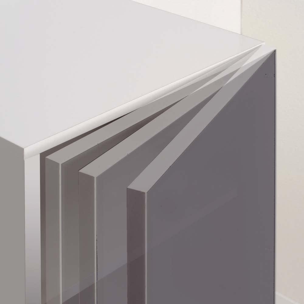 ラグジュアリー壁面コレクションキャビネット40左開き<パモウナ VD-405L> ◎扉用ダンパー 閉まる手前でクッションが効き、その後ゆっくり吸い込まれるように閉まります。
