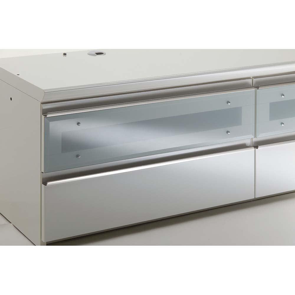 ラグジュアリーテレビボードシリーズローボード160<パモウナ VD-1600下台> テレビボード 強化ガラス