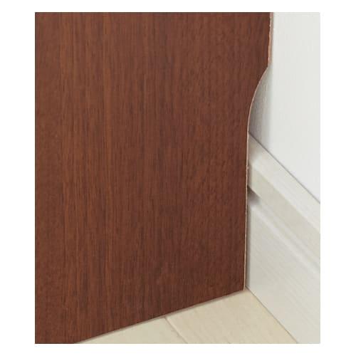 サイズオーダー薄型収納 高さEO奥行25隠し引き出し幅75cm 幅木カット(奥行1cm高さ10cm)してあり、壁面ぴったりに設置できます。