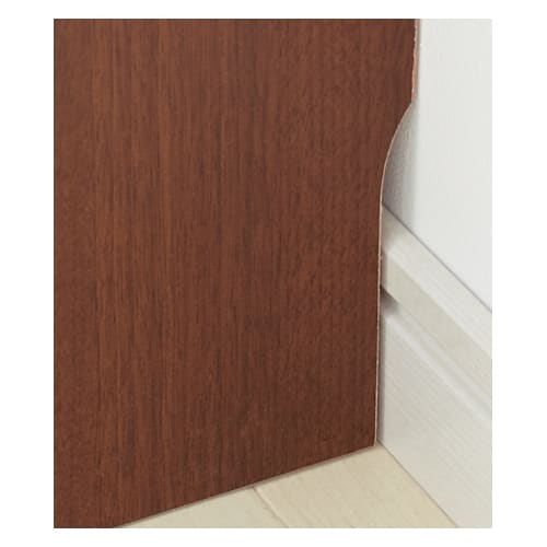 サイズオーダー薄型収納 高さEO奥行35隠し引き出し幅100cm 幅木カット(奥行1cm高さ10cm)してあり、壁面ぴったりに設置できます。