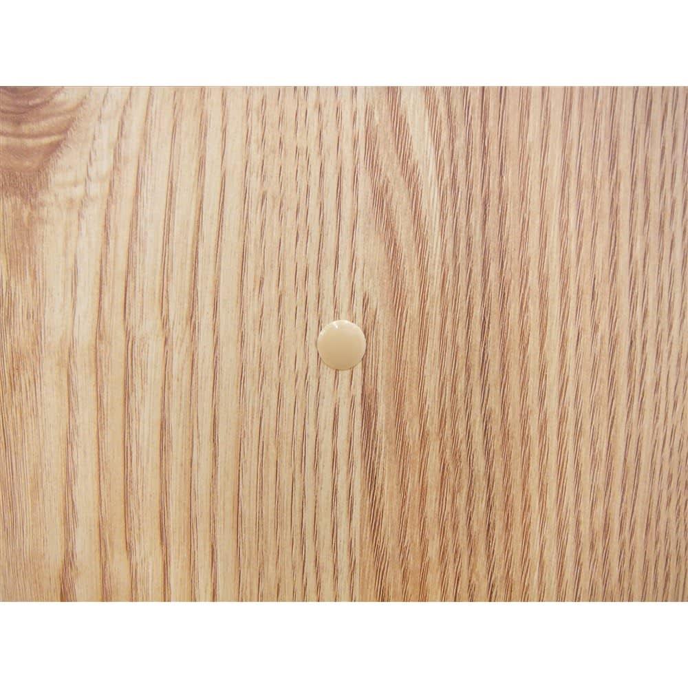 ナチュラル天然木風キッチンストッカー チェスト幅61.5cm 複数台を並べて設置するための連結穴とジョイント金具付き。穴はキャップで隠すことができます。