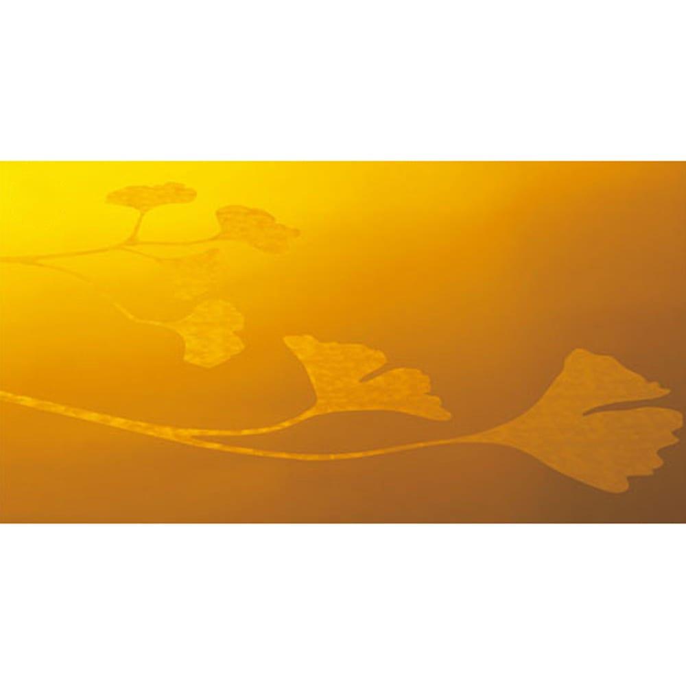 Kartell Usame ウザメ テーブル 天板、収納底、サイドに描かれたアールデコ調のイチョウ模様。部屋の明るさや床材の色などで様々に変化する表情をお楽しみください。(※写真は取り扱いのないカラーになります)