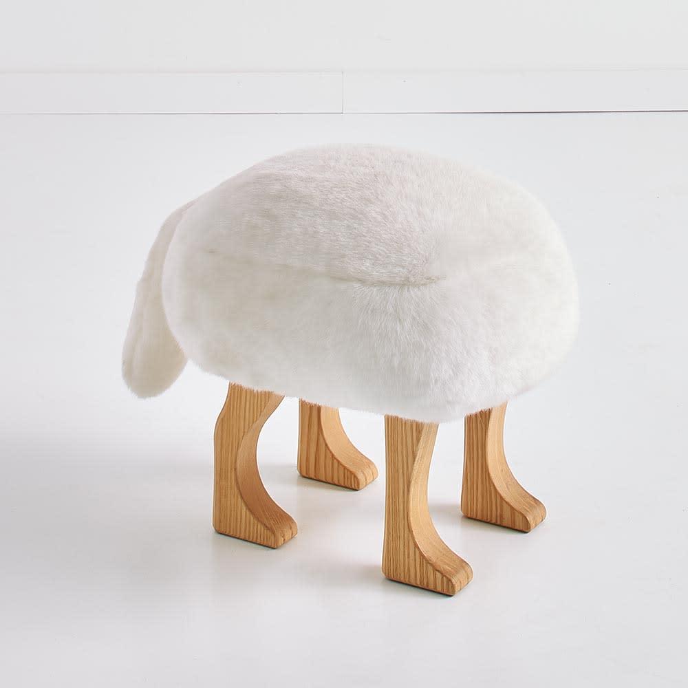 ANIMAL STOOL/アニマルスツール ホワイト毛