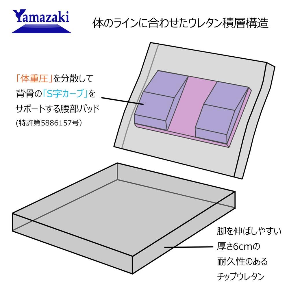 産学連携 コンパクト座椅子 産学連携で開発した独自のクッション構造。
