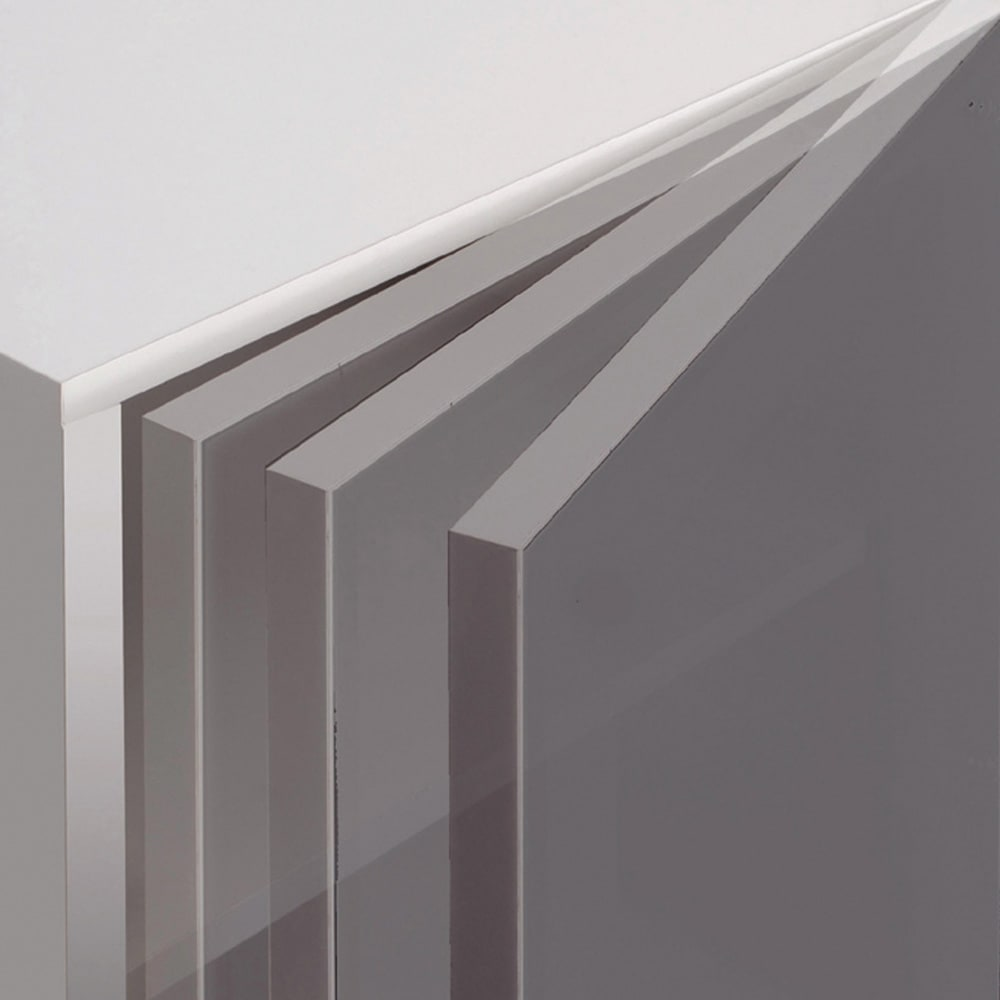 ギャラリー壁面収納 洗練デザインのリビングカウンター収納シリーズ 下台 扉タイプ 幅80cm [パモウナ YA-80] 扉は途中で手を離しても吸い込まれるように静かにゆっくり閉まる蝶番付き。