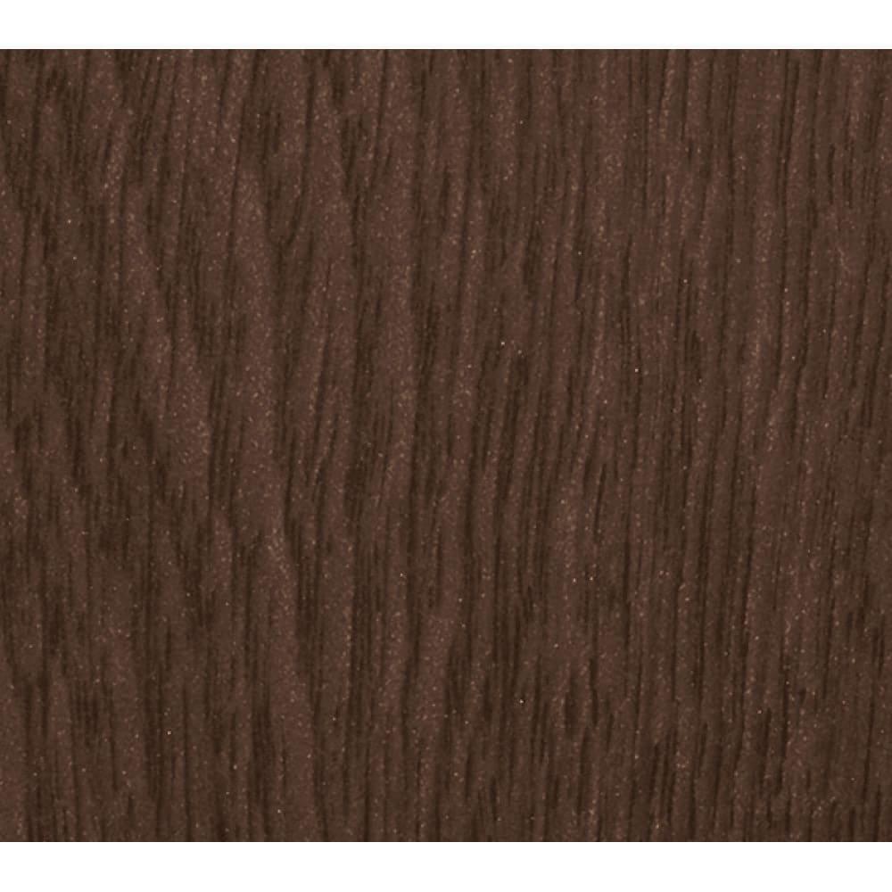 仕事がはかどる本棚付き薄型デスクシリーズ デスク 幅120cm ダークブラウン色は控えめな木目柄。