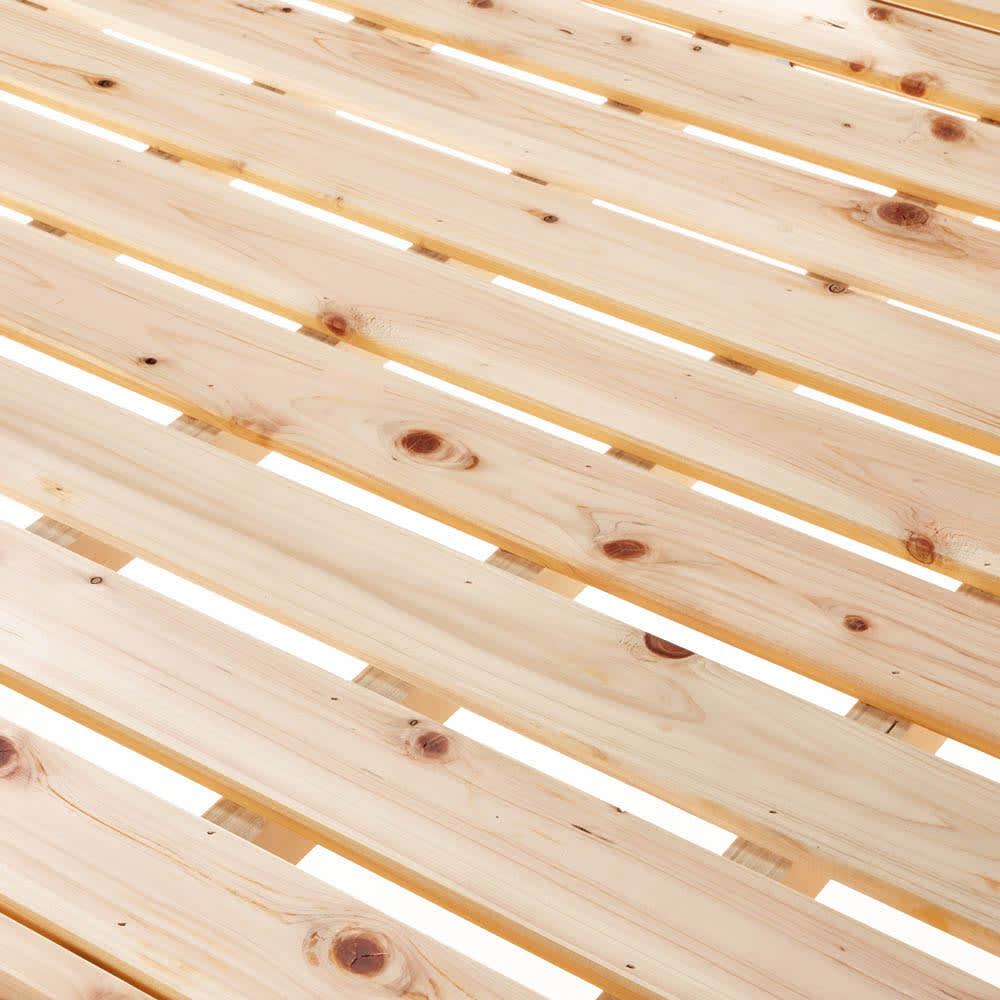 ひのきが香る天然木 親子すのこベッド 上下段親子ベッド 通気性の良いすのこ仕様。