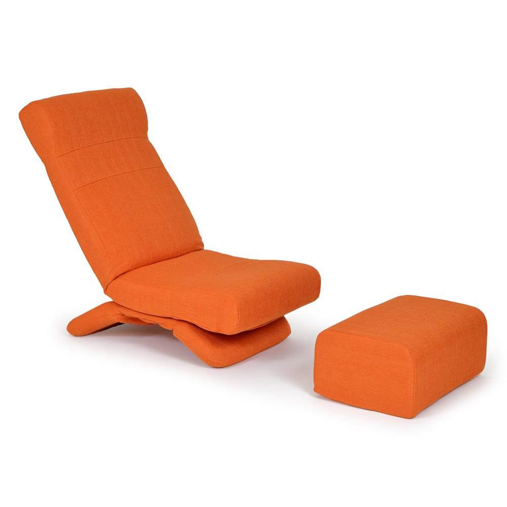 ZAGUN フレックスチェア オットマン (ア)オレンジ ※お届けはオットマンのみです。