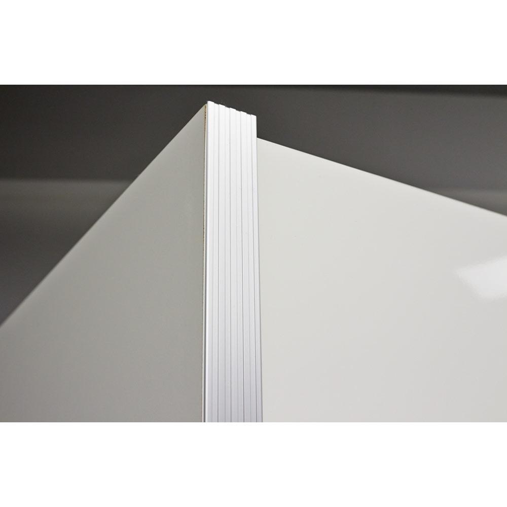 ContrnoII コントルノ キッチン収納シリーズ 家電を隠すフラップボード 幅62cm サイドにはアルミ製のフレームをつけ、シャープな印象に。