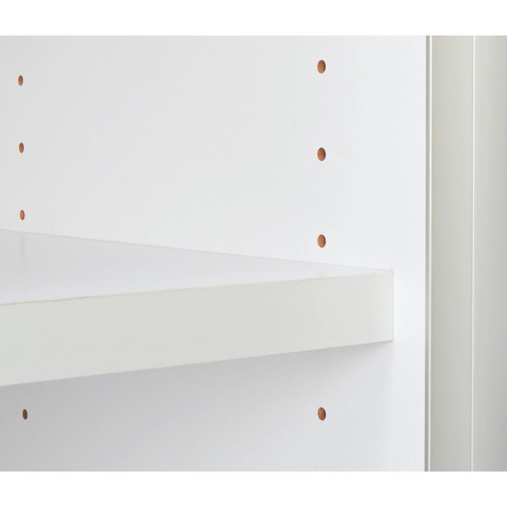ContrnoII コントルノ キッチン収納シリーズ 家電を隠すフラップボード 幅62cm 家電収納部のフラップ扉はスッキリ収納できます。