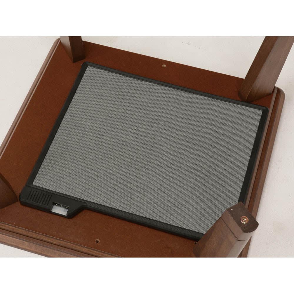 【3長方形】120×80cm 木の風合いで選べる平面パネルこたつテーブル 出っ張りが少なく足元が広々使える平面パネルヒーター。