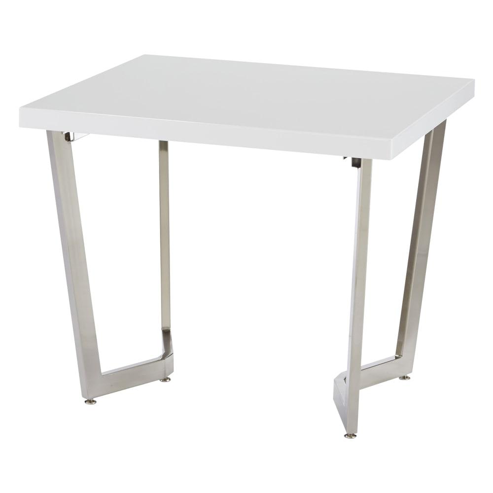 コンパクトモダンダイニング テーブル 幅85cm (ア)ホワイト