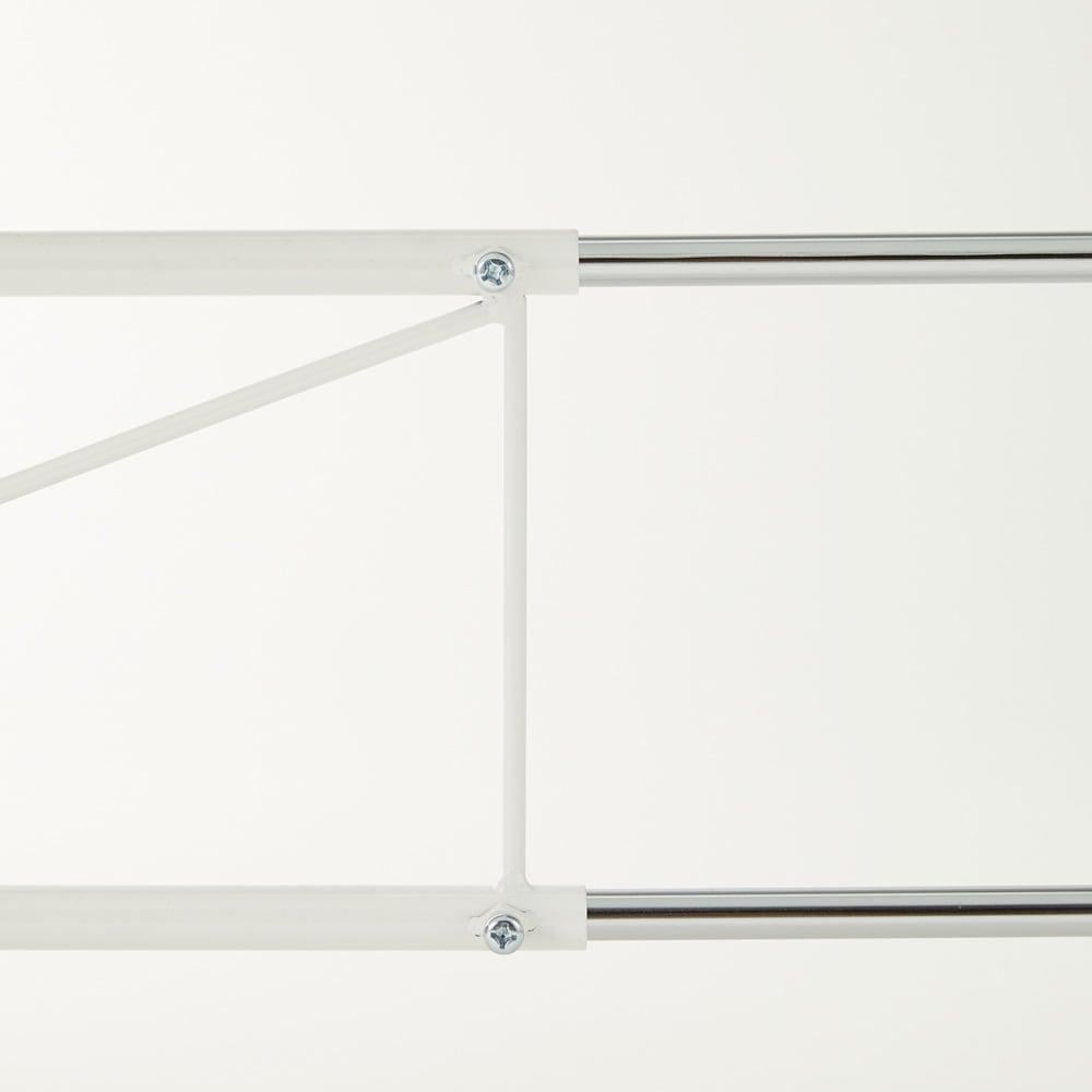 レンジ上を活用できる伸縮キッチンラック 1段(高さ50cm) 幅52~84cm