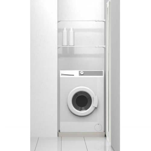 伸縮つっぱりフラットラックシリーズ 幅55~75cm 洗濯機の上に収納スペースが作れます