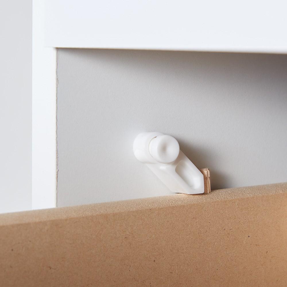 収納物が取り出しやすい3面オープンすき間収納庫 幅30cm 引き出しはストッパー付きで安心です。