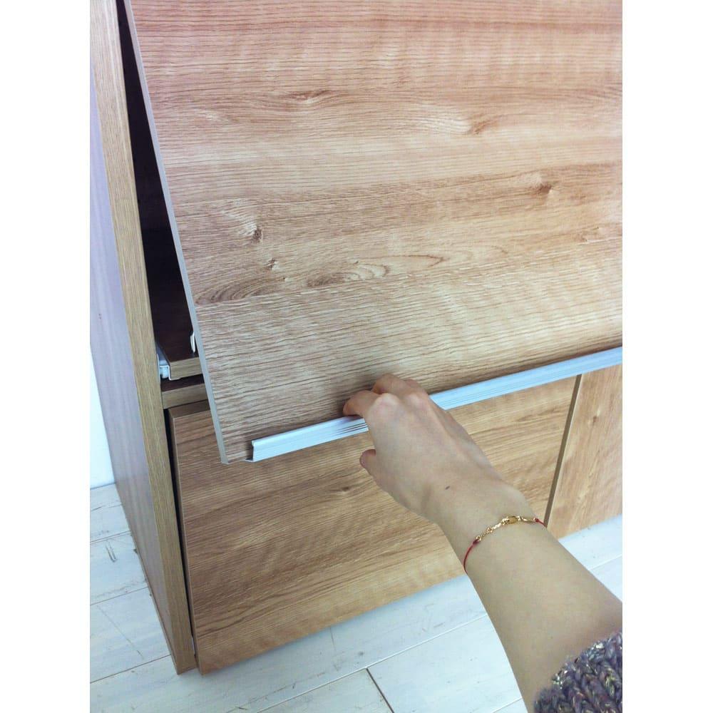 やさしい天然木風デザインの隠せる家電収納庫 大型レンジ対応ハイタイプ 奥行54.5cm