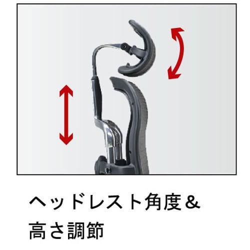 Ergohuman エルゴヒューマンベーシック EH-HAMD ヘッドレストの合わせ方は、目と耳の付け根の上部を結んだ線上に、ヘッドレストの中央部がくるように合わせてください。