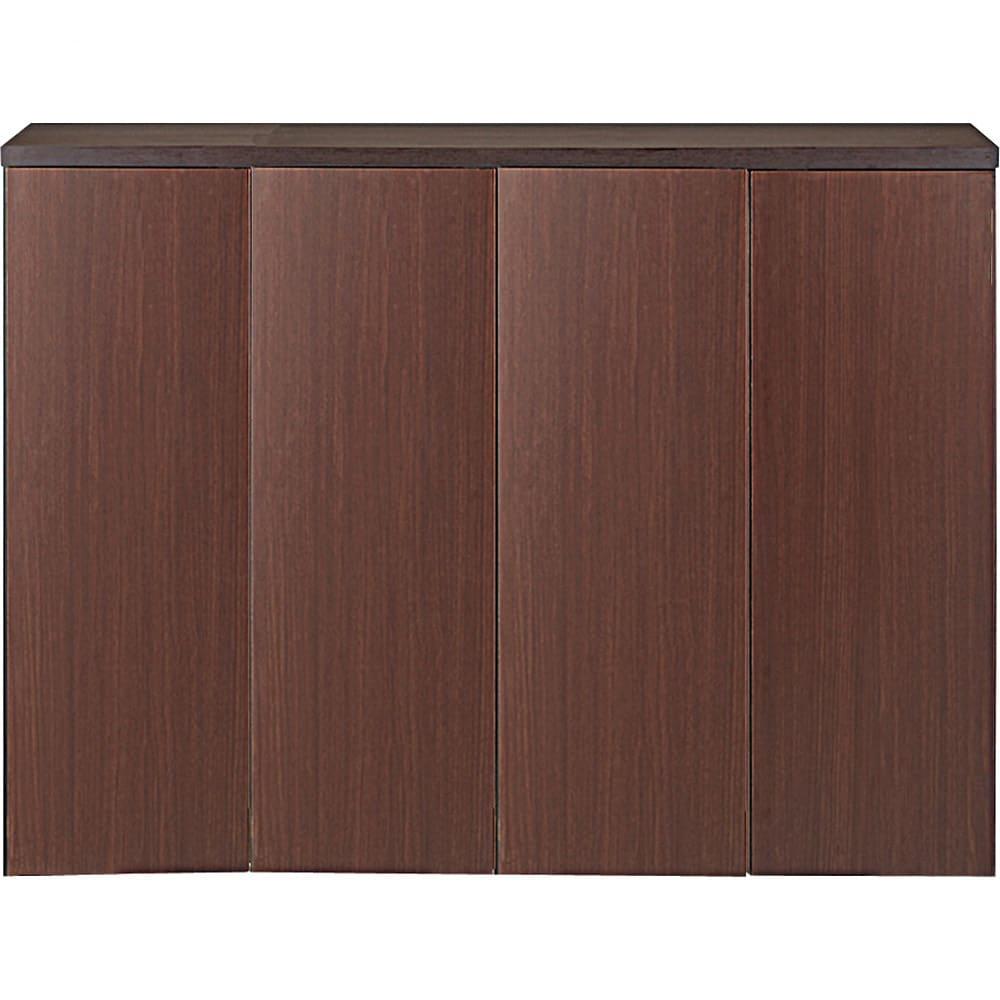 1cmピッチ&段違いで使える ハーフ棚板たっぷり収納庫 幅88cm (イ)ダークブラウン