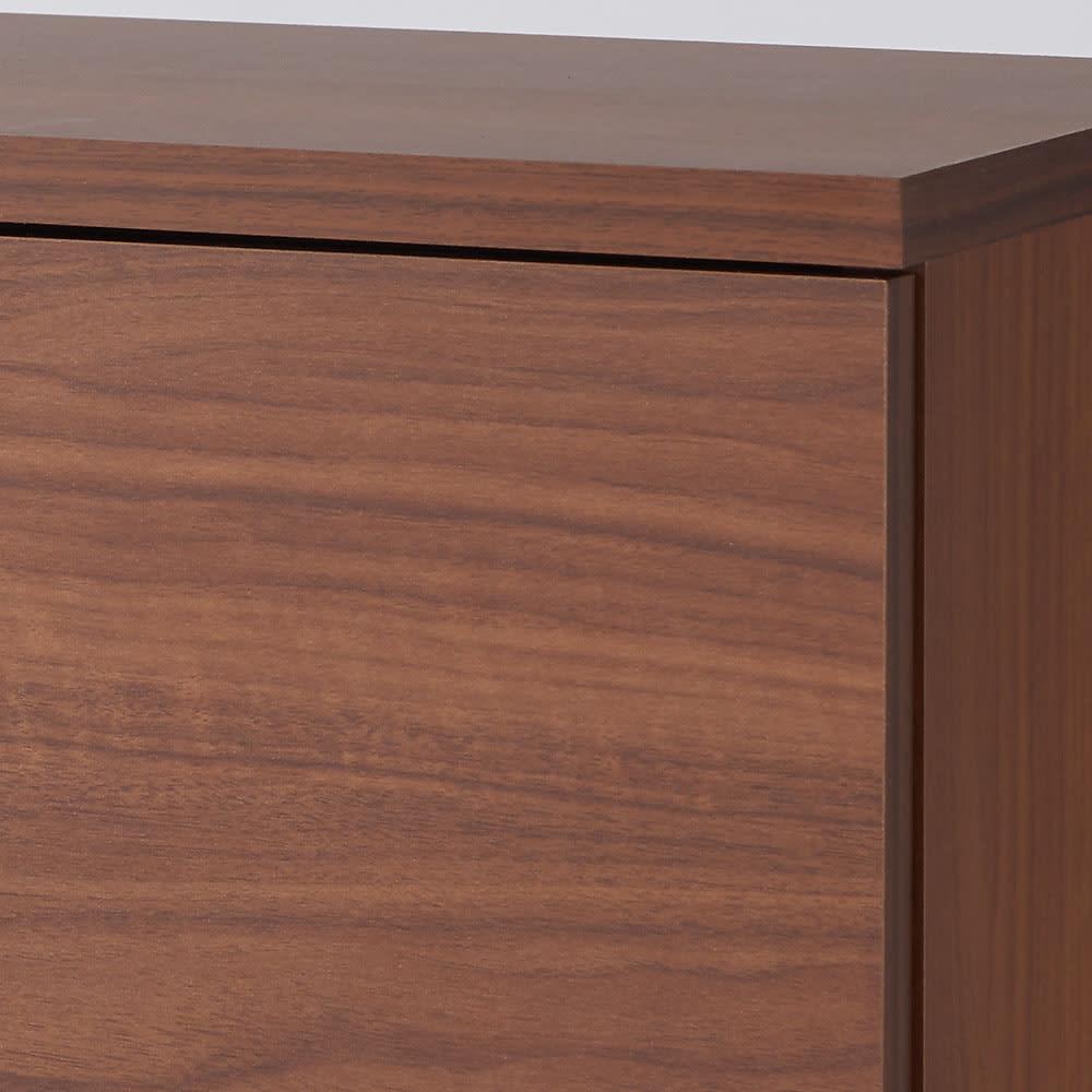 全部引き出し カウンター下収納庫 幅80cm (イ)ブラウン 木目が美しく上品で高級感があります。