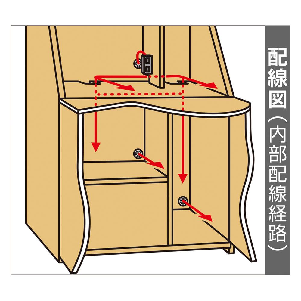天然木調プリンター収納ライティングデスクシリーズ ロータイプ・幅80.5cm