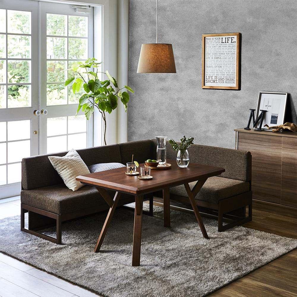【長方形】天然木ダイニングこたつテーブルシリーズ お得な3点セット 使用例
