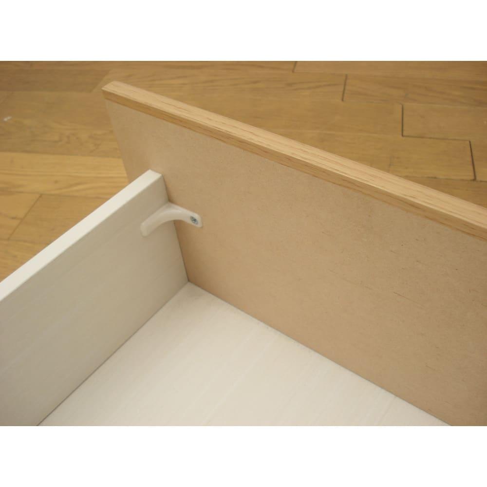 組立簡単チェスト4段 幅75高さ112cm 引き出し内部