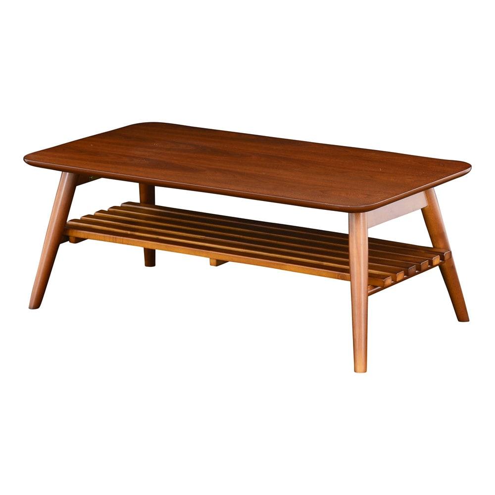 Sereno/セレノ 棚付き折れ脚テーブル(VT4090T) (イ)ブラウン