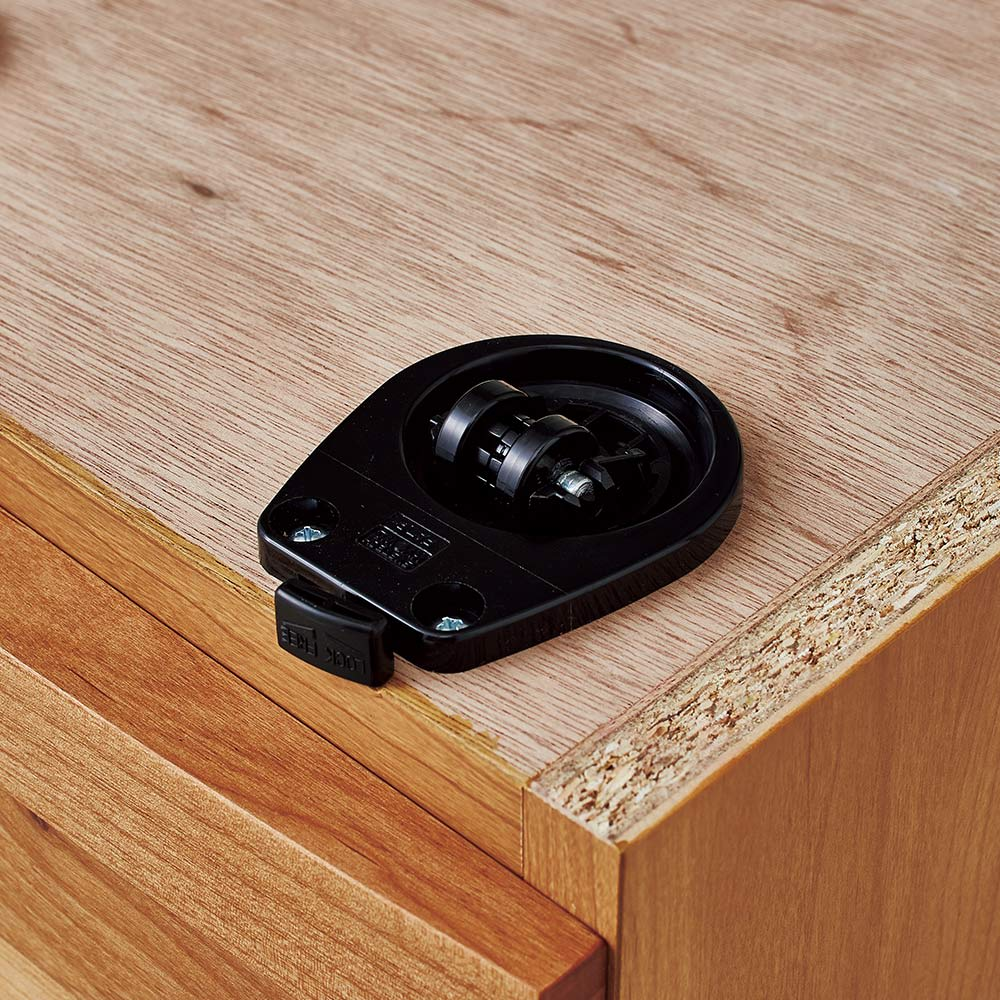 アールデザインローデスク サイドチェスト幅35cm 隠しキャスター付きで移動もラクラク。