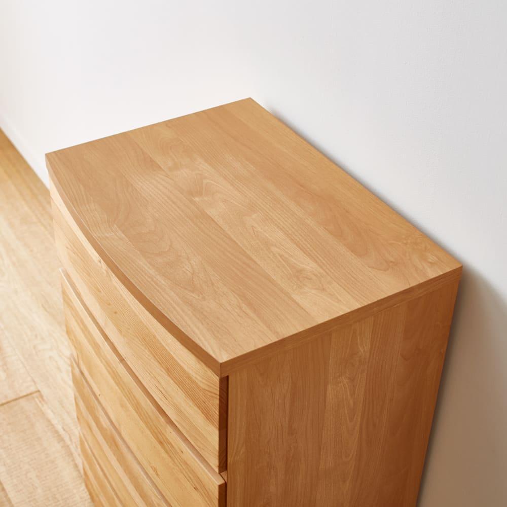 Kieros(キエロス) アルダー材チェスト 幅80cm・3段 天板は木目調の強化紙