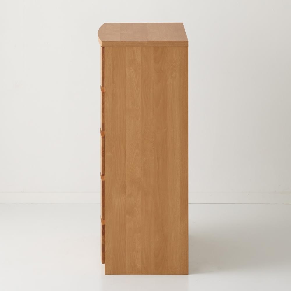 Kieros(キエロス) アルダー材チェスト 幅80cm・5段 側面
