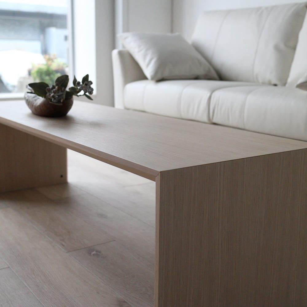 Slim スリム すっきり折りたたみ可能なリビングテーブル 幅120奥行40cm